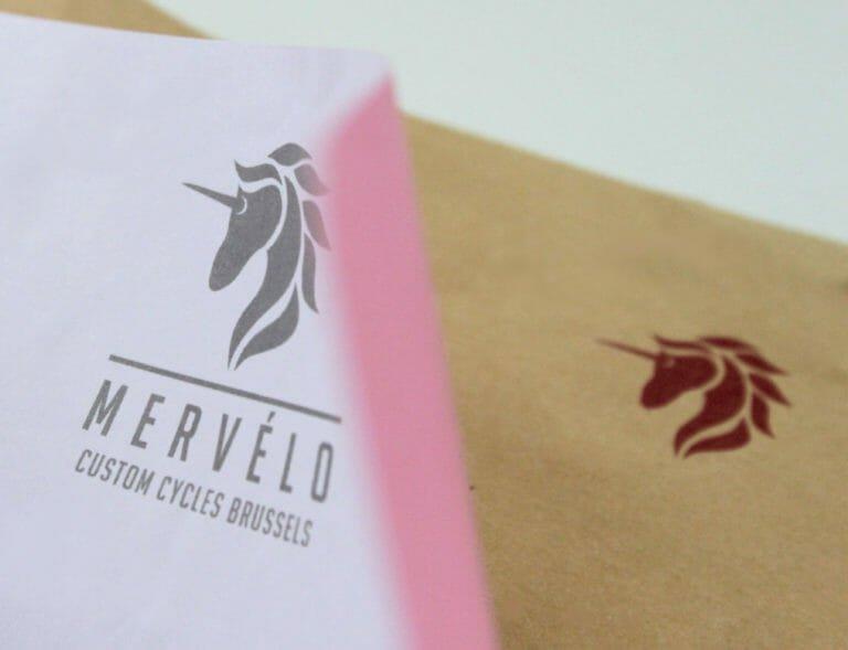 Mervelo Brief + Umschlag Geschäftsausstattung